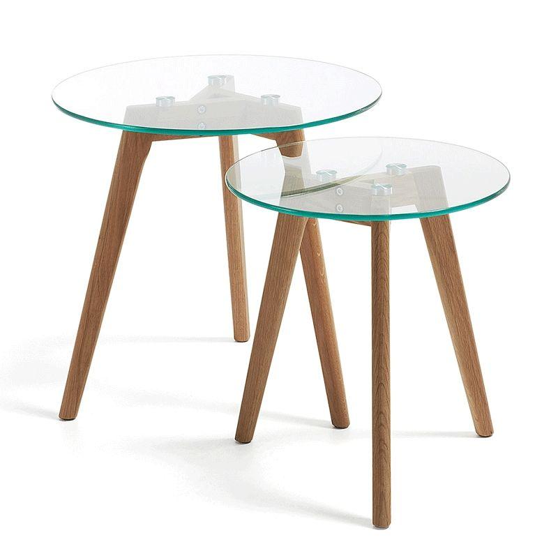 Set de mesas auxiliares Kirb cristal