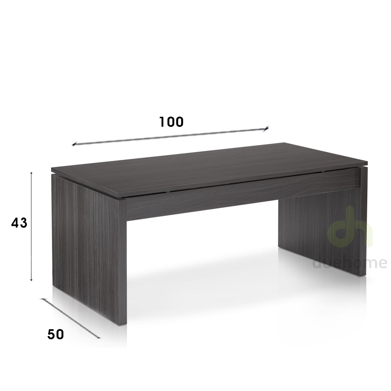 Mesa de centro elevable mesita auxiliar blanco brillo for Mesa oficina barata