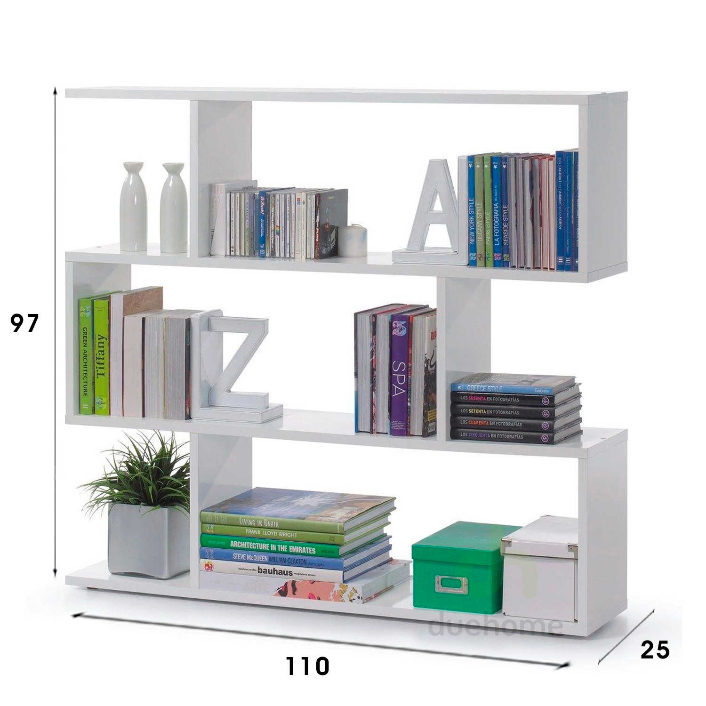 Estanteria baja libreria mueble para comedor salon for Comedor para oficina