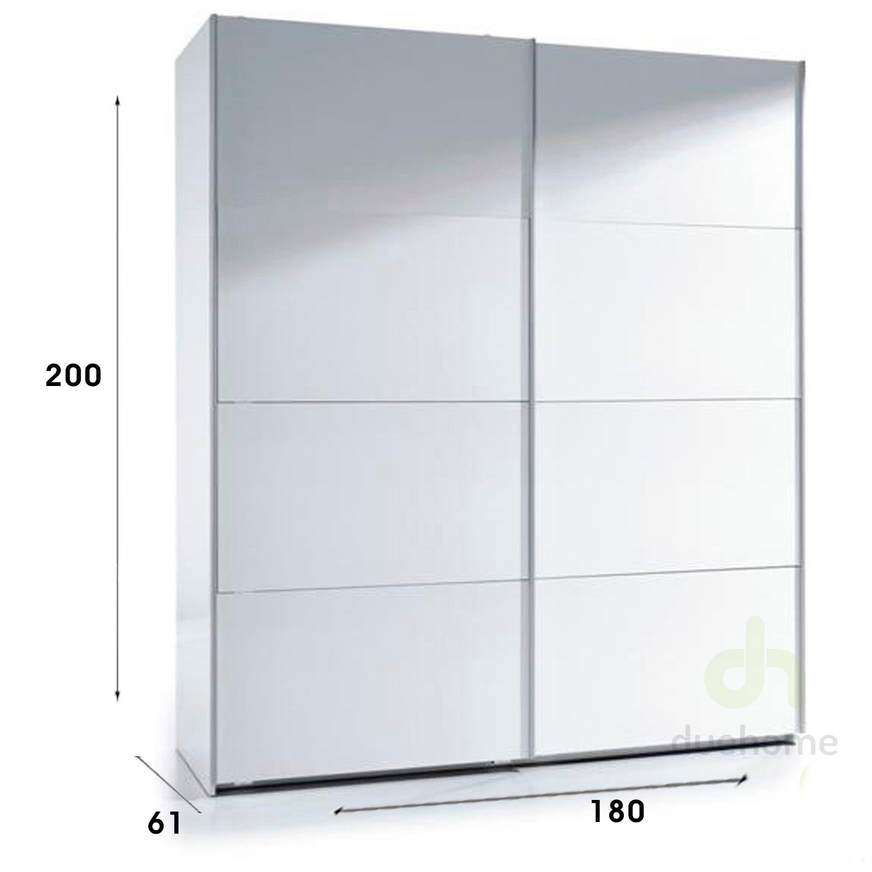 Armario corredera 180x200 armarios puertas correderas - Armario blanco puertas correderas ...