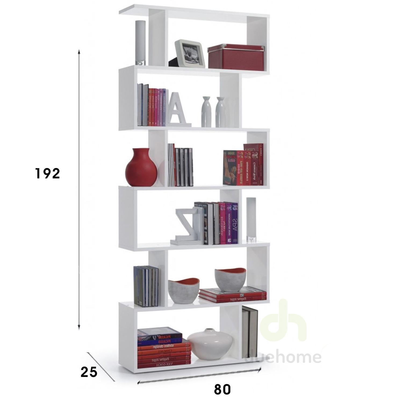 Estanteria alta abierta 6 estantes estanter a moderna - Estanterias de diseno para libros ...