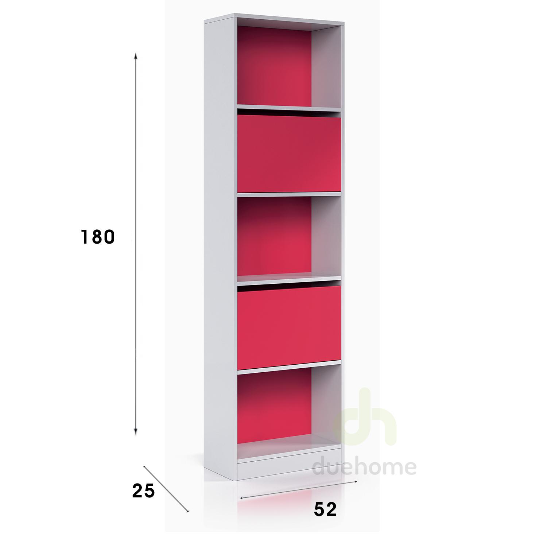 Estanteria con puertas blanco brillo y magenta ipink ebay - Puertas para estanterias ...