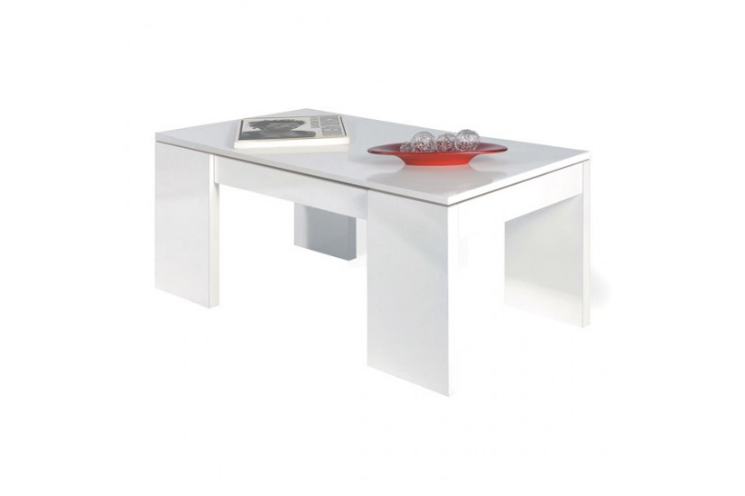 Mesa de centro elevable mesita de comedor color blanco for Mesita de comedor