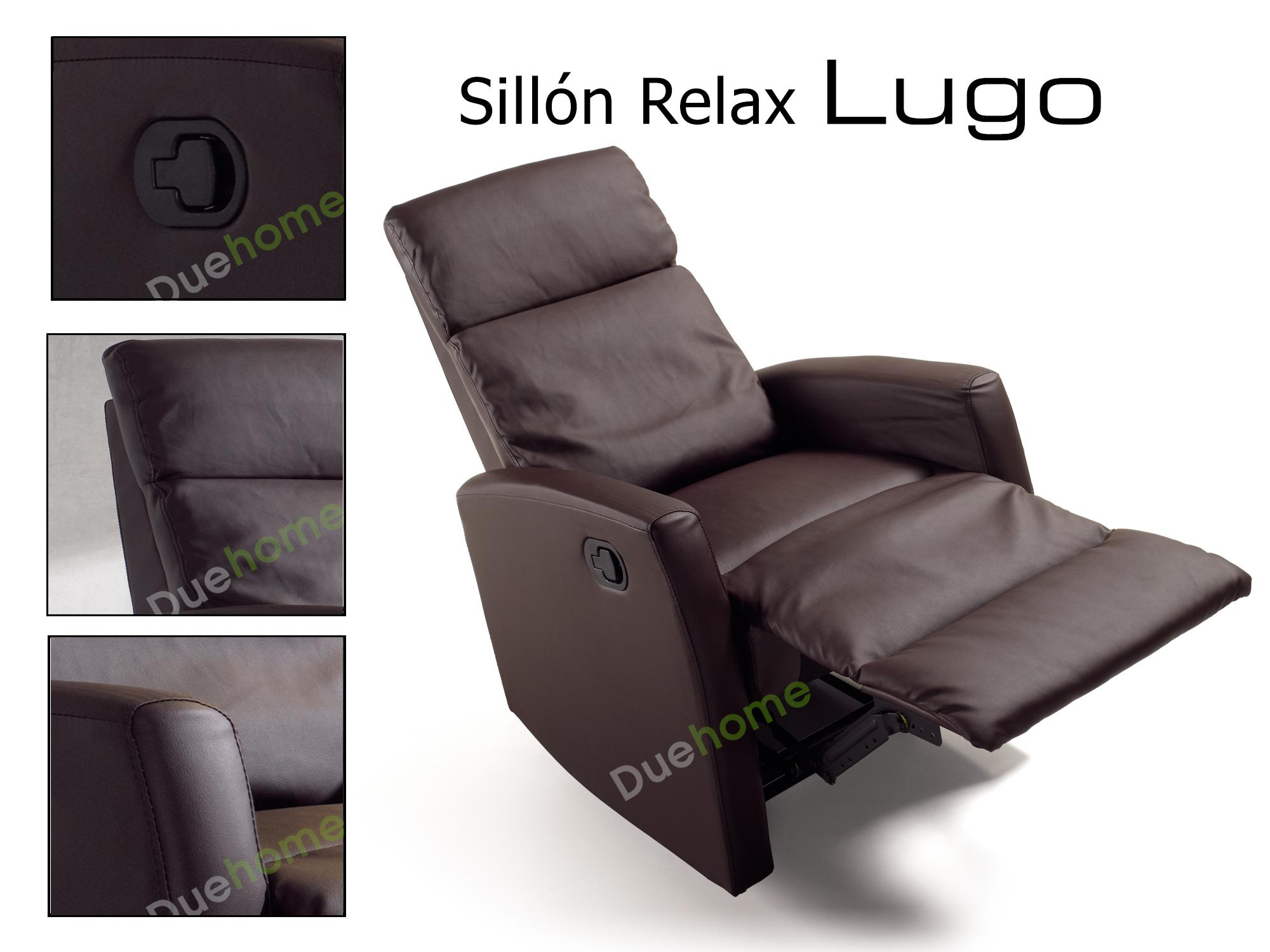 Sillon relax reclinable marron ebay - Sillones reclinables relax ...