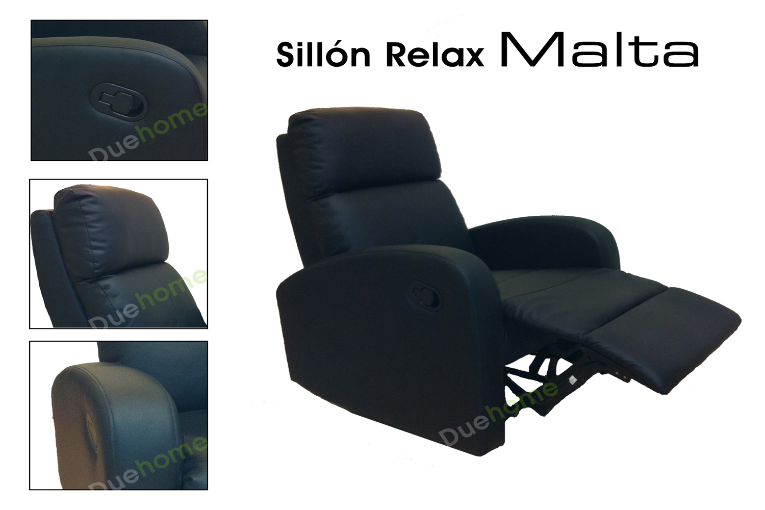 Sillon relax reclinable negro ebay - Sillones reclinables relax ...