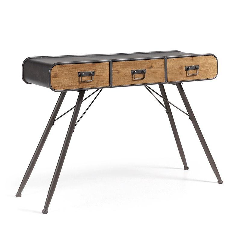 Consola escritorio estilo industrial