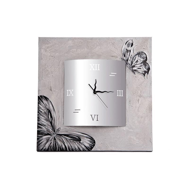 Reloj Mariposas cuadrado