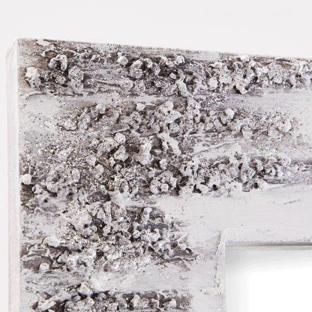 Espejo artesanal Piedras
