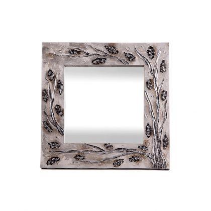 Espejo artesanal Árbol Piedras