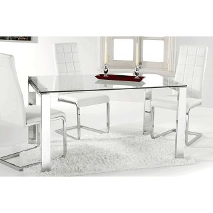 Mesa de comedor cromada universal