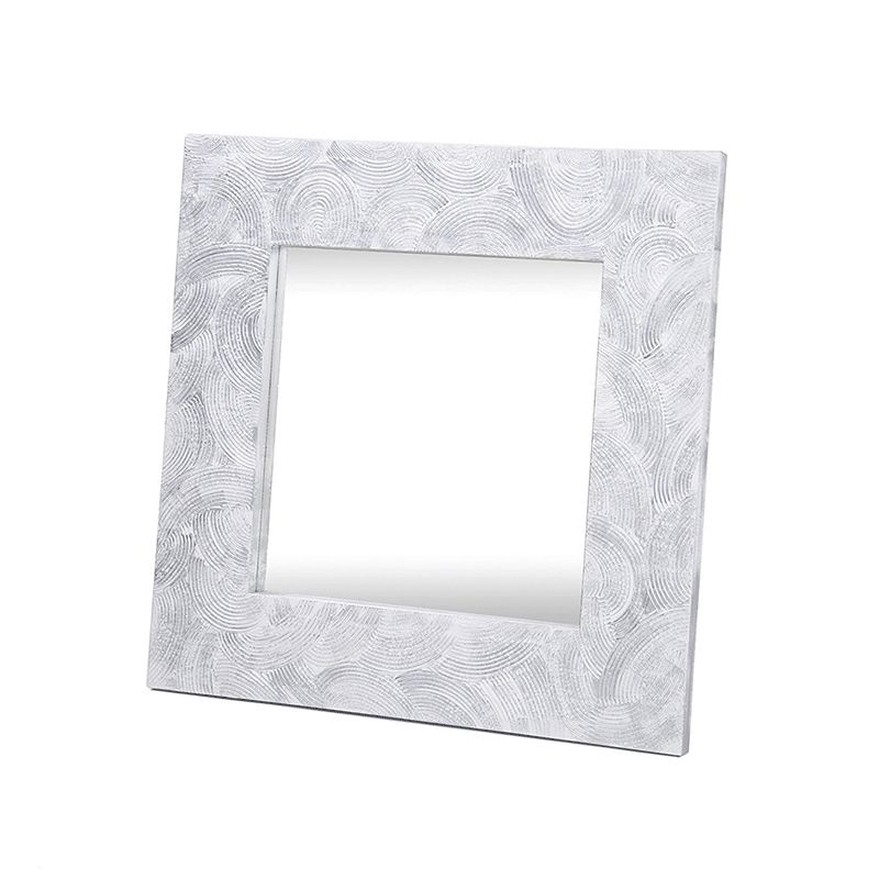 Espejo artesanal Peine cuadrado