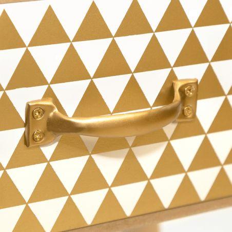Mesita Chic 2+1 cajones Gold
