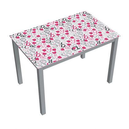 Mesa de cocina con impresión