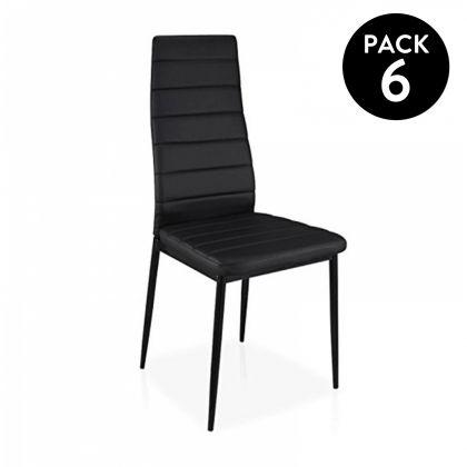 Pack 6 sillas símil piel Emi