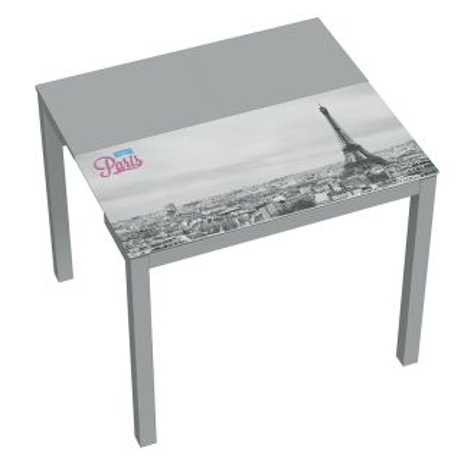 Mesa de cocina extensible con impresión