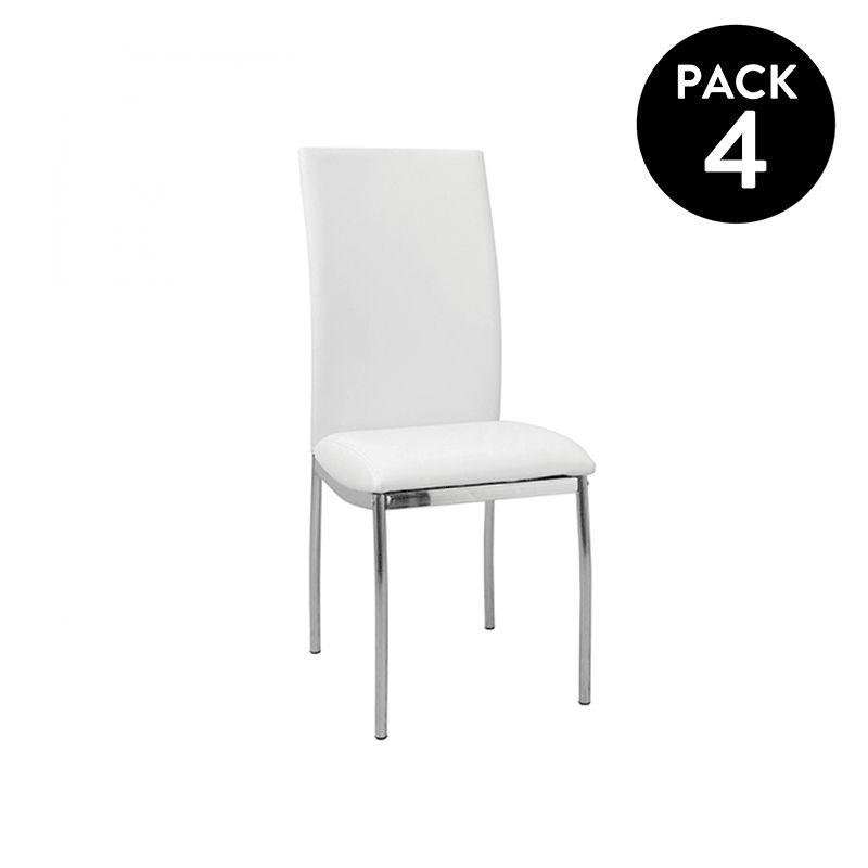 Pack 4 sillas de comedor Curve