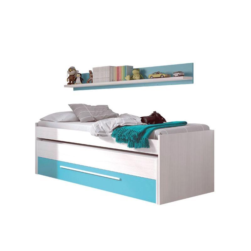 Muebles de dormitorio y sal n comedor cama doble juvenil cyan for Cama juvenil doble con cajones