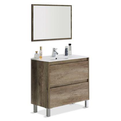 Mueble de baño con espejo Dakota 2 cajones