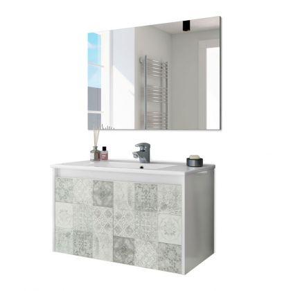 Mueble de baño con espejo Due