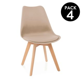 Pack 4 sillas de comedor Beench