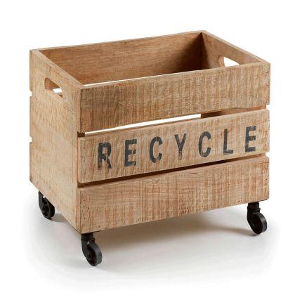 Caja de madera con ruedas Recy