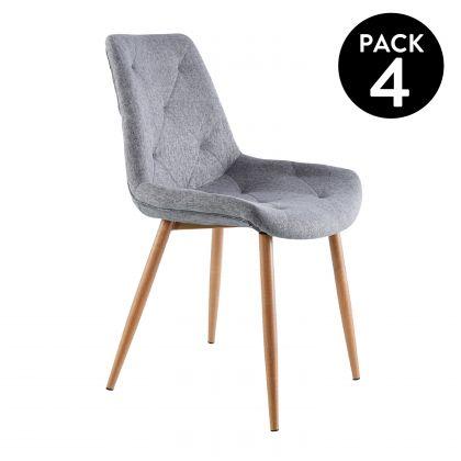 Pack 4 sillas de comedor Marlene