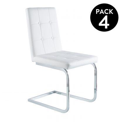 Pack 4 sillas de comedor Vanity