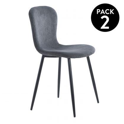 Pack 2 sillas de comedor Lierop