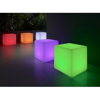 Puff cubo LED multicolor