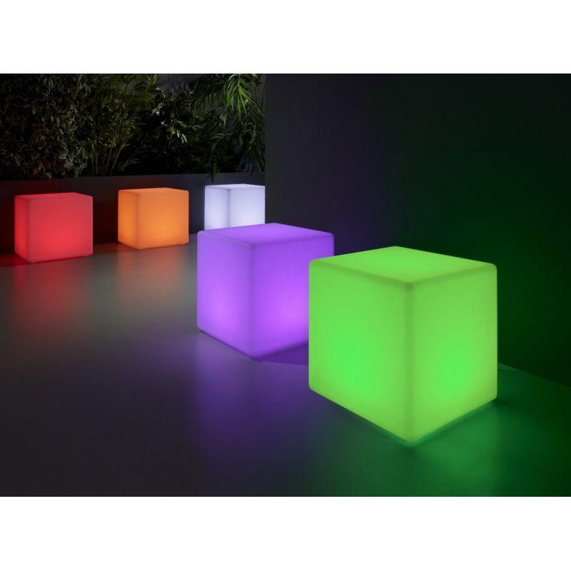 Puff cubo LED multicolor
