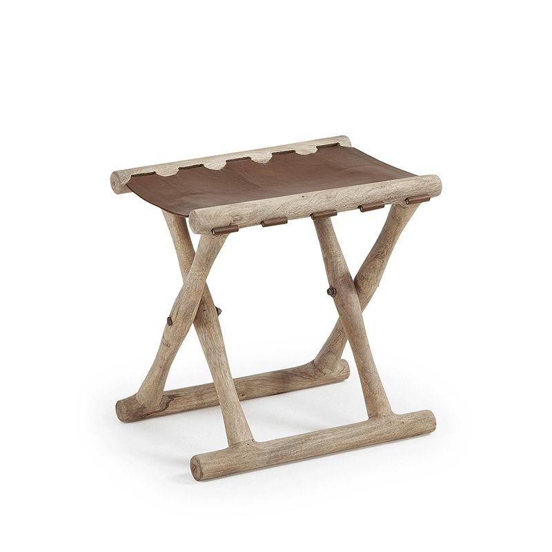 Taburete de madera Livy