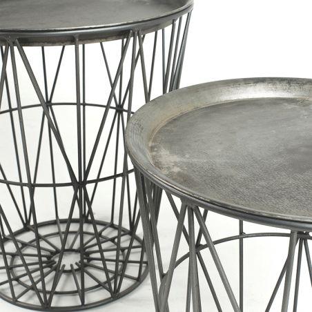 Set de 2 mesas redondas Enoki