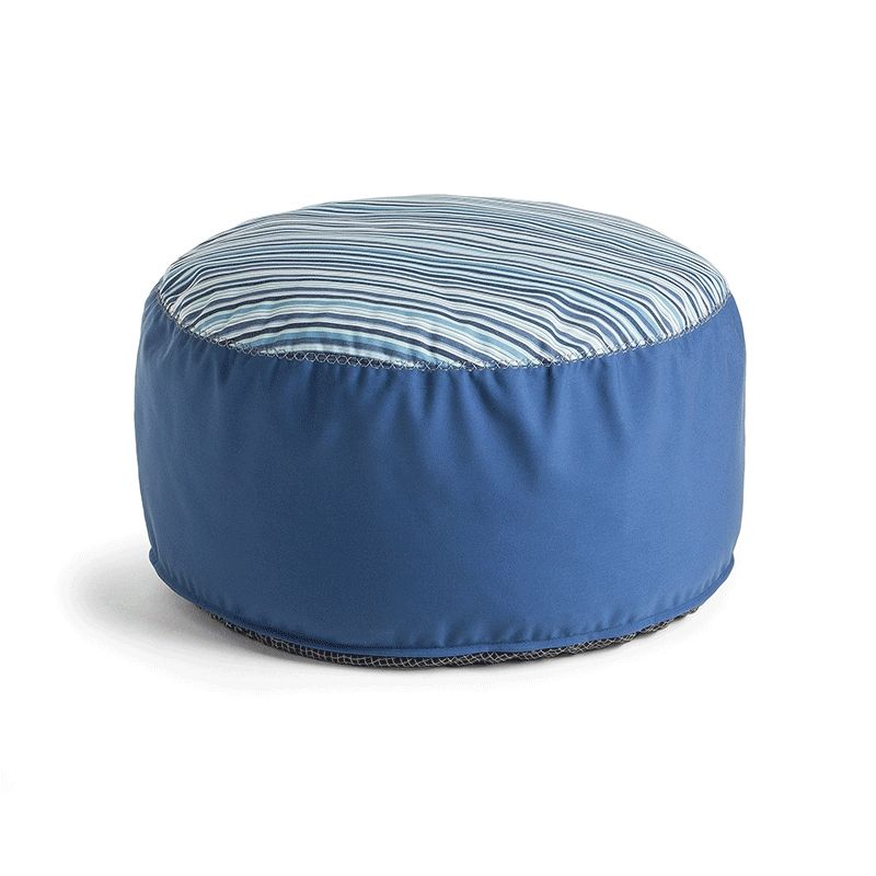 Puf de tela Bleu