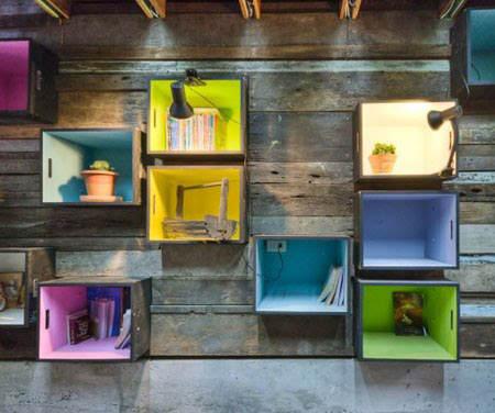 Ideas para decorar con cajas recicladas el blog de due - Cajas de fruta recicladas ...