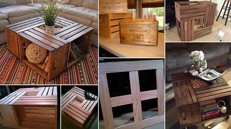 Ideas para decorar con cajas recicladas el blog de due - Cajas de madera recicladas ...
