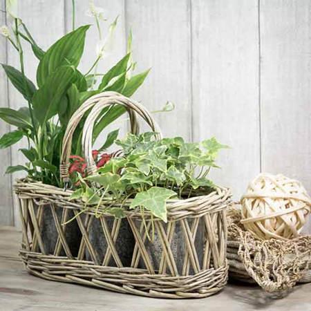 Ideas para decorar con cestas de mimbre el blog de due - Como adornar una cesta de mimbre ...