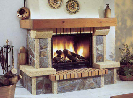 Ideas para decorar chimeneas 2 el blog de due home for Como decorar una pared rustica