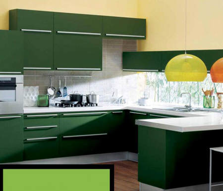 Es tendencia en decoraci n cocinas verdes el blog de for Como hacer color verde