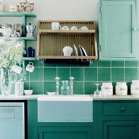 Es tendencia en decoraci n cocinas verdes el blog de - Cocina verde agua ...