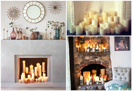 Ideas para decorar chimeneas 2 el blog de due home for Decoracion del hogar con velas