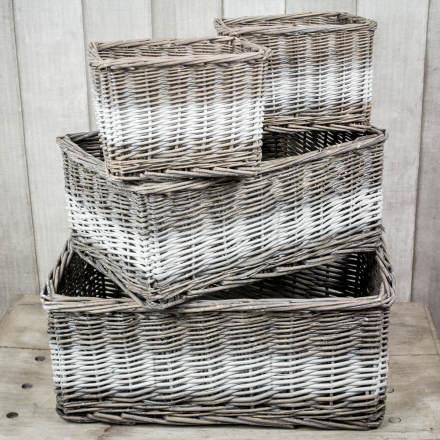 Ideas para decorar cestas de mimbre el blog de due home for Como aprovechar una cesta de mimbre