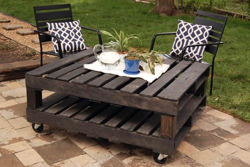 Tutoriales diy c mo hacer una mesa con palets el blog - Como hacer una mesa con palets ...