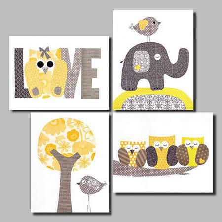 Decoraci n de primavera para beb s 1 el blog de due - Cuadros habitacion infantil ...
