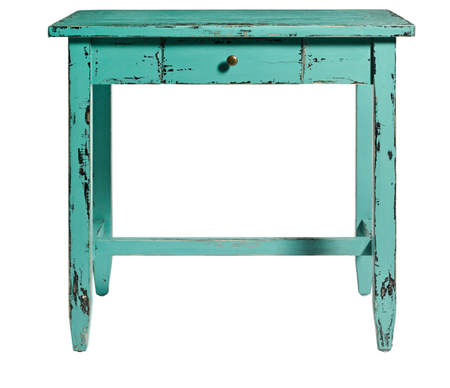 Tutorial diy c mo envejecer muebles con pintura el blog - Muebles de colores pintados ...