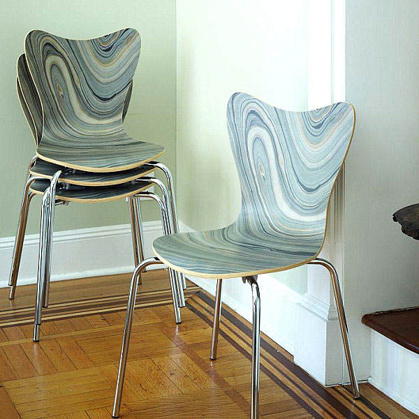 chair-with-marbleized-effect