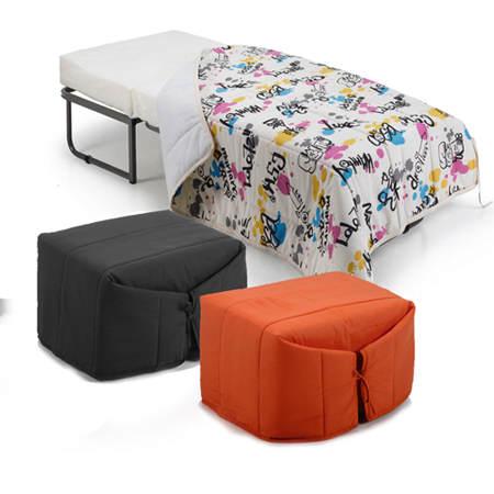 Camas convertibles qui n dijo no a los invitados el blog de due home el blog de due home - Puff convertible cama ...