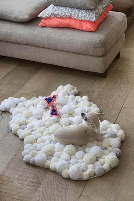 Es tendencia en decoraci n alfombras de pompones el blog de due home el blog de due home - Alfombras infantiles grandes ...
