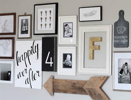 5 cosas bonitas que puedes hacer con marcos para decorar - Letras home decoracion ...