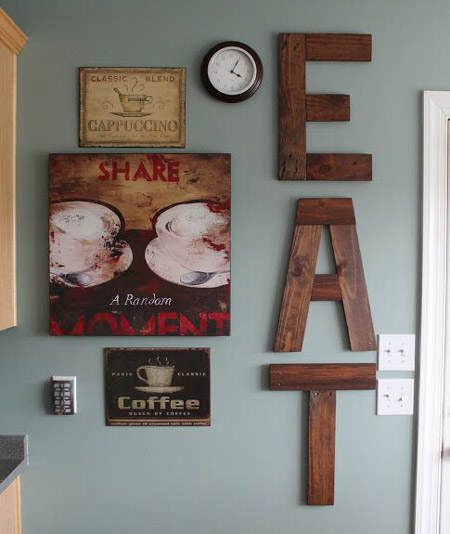 C mo decorar la pared de la cocina el blog de due home for Reloj de pared vintage 60cm