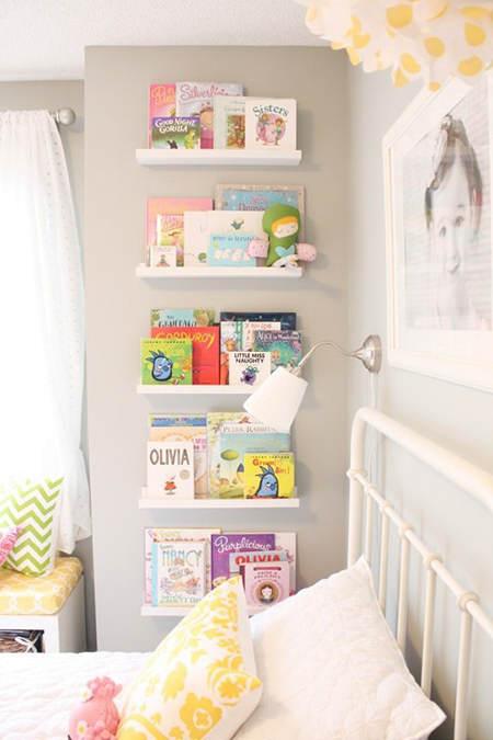 Trucos de almacenaje para habitaciones infantiles el for Estanterias habitacion infantil